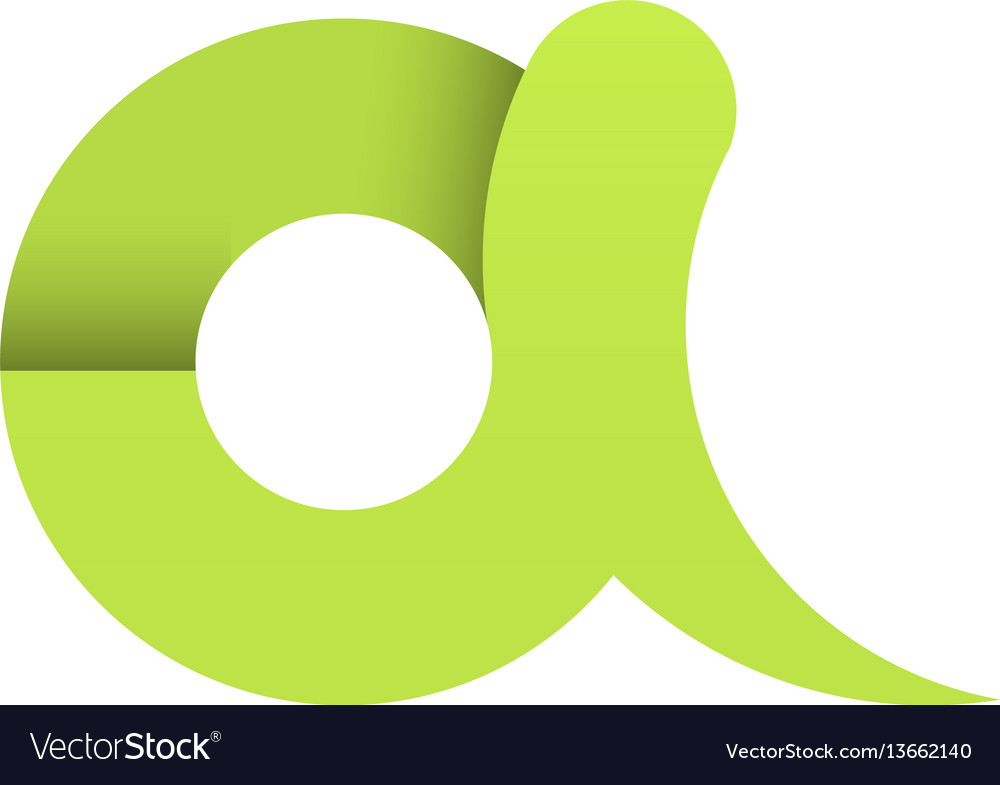 Green letter a paper the first character vector