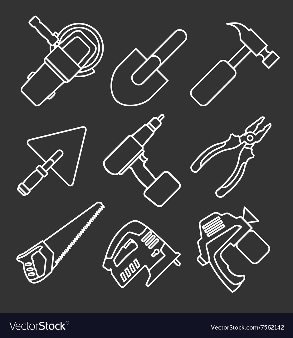 Working tools icons vector