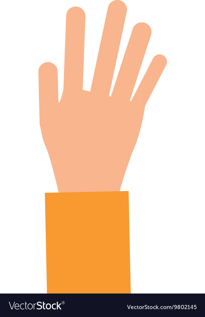 Open hand icon vector