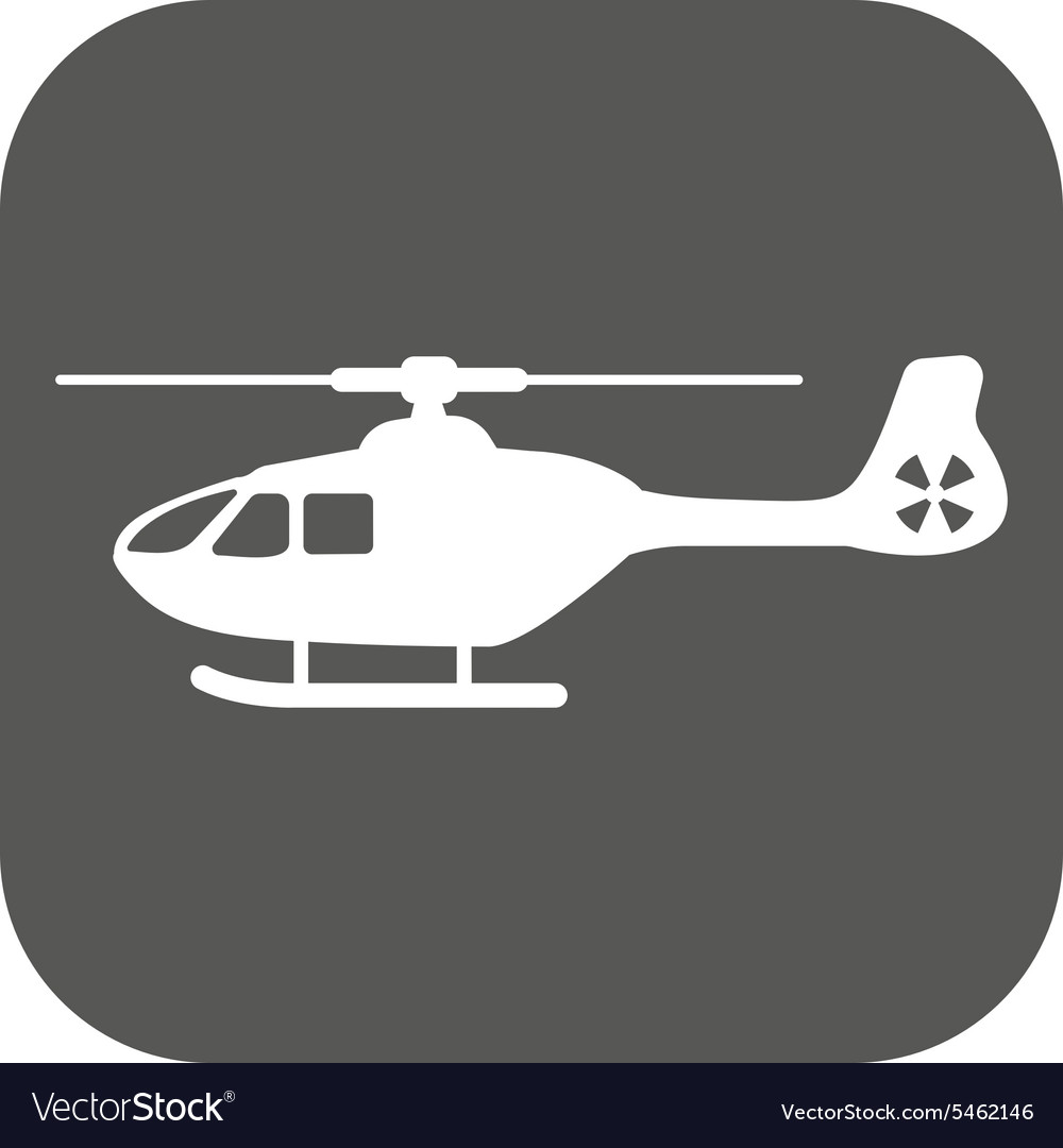 Helicopter icon copter symbol flat vector