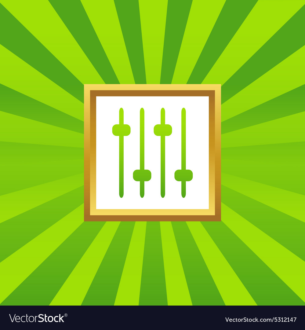 Faders picture icon vector