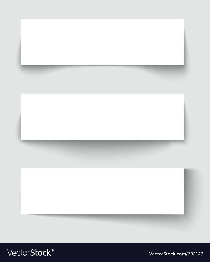 Set of banners with different shadows vector