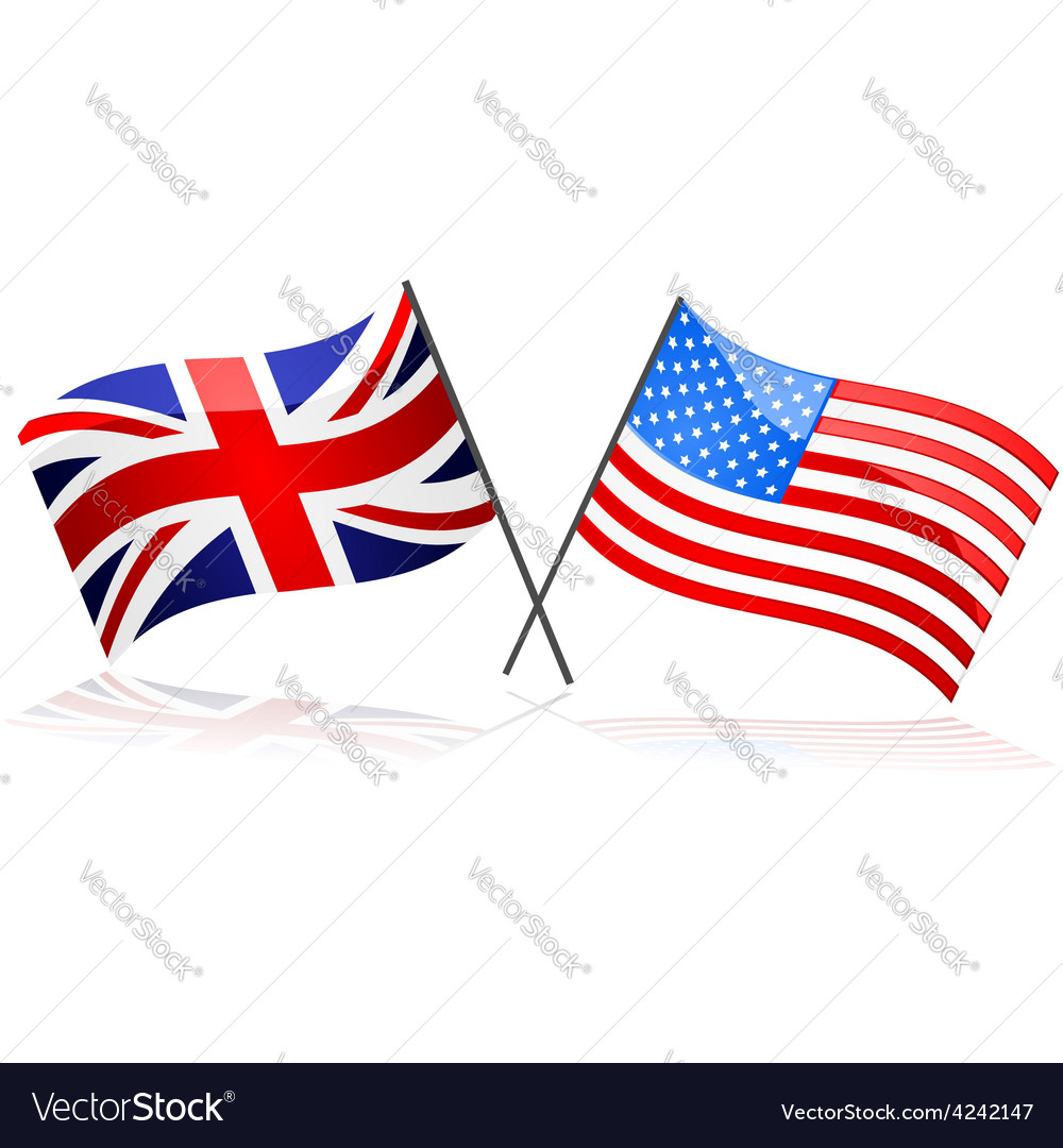 United kingdom and united states vector