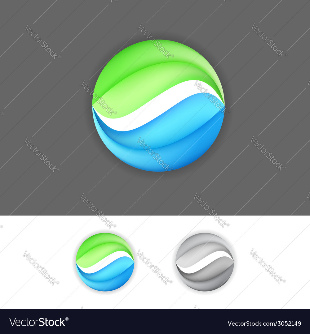 Corporate business greenblue eco sign element vector