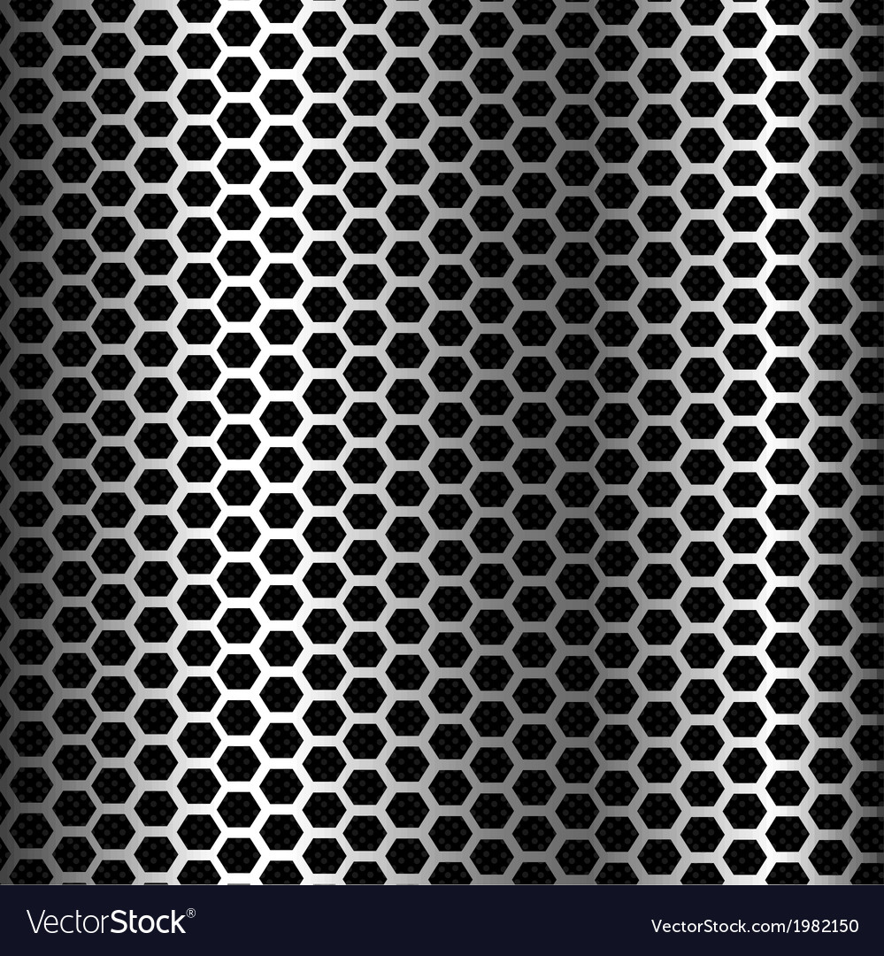 Hexagon metal background texture vector