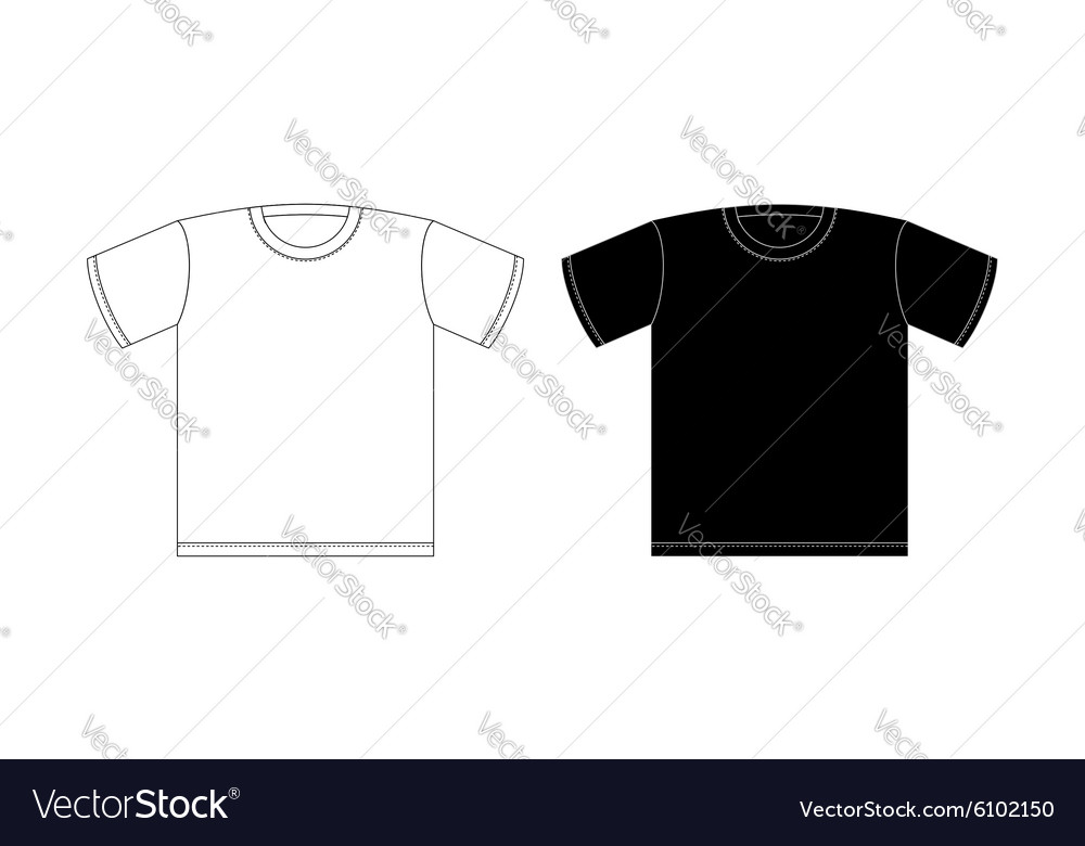 Tshirt black and white on a white background vector