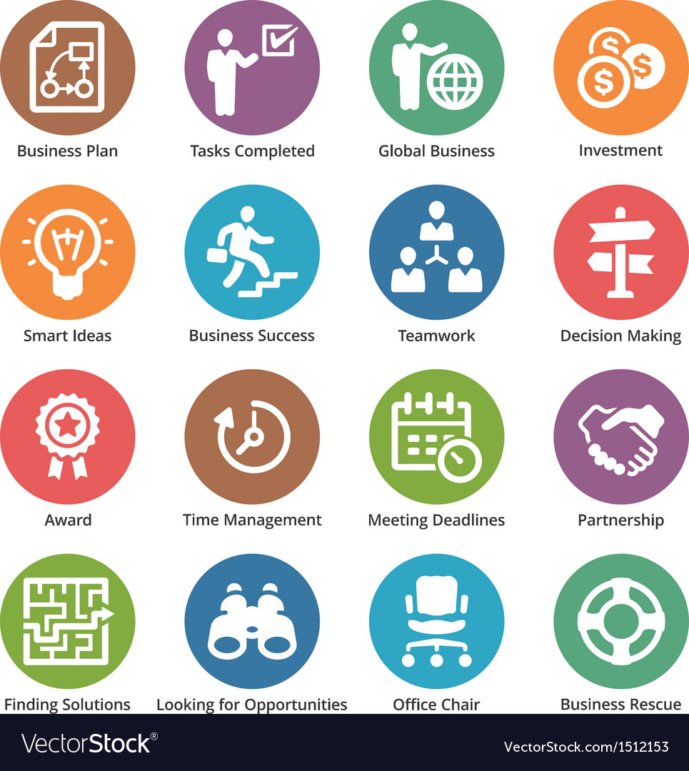 Business icons set 3  dot series vector