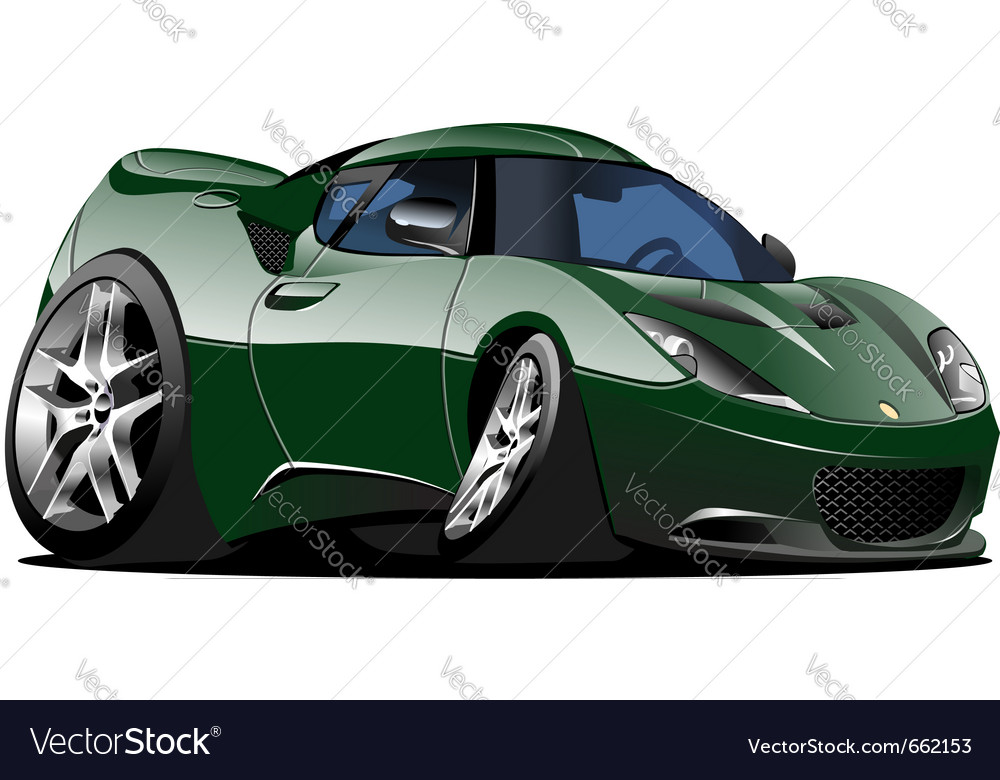 Cartoon car one click repaint vector