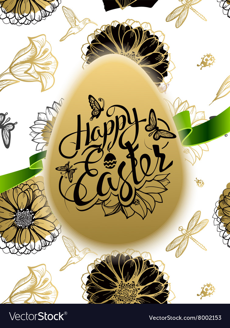 Happy easter sign symbol logo on background vector