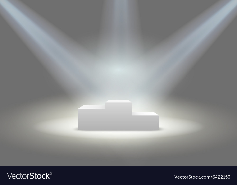 Illuminated winners podium vector