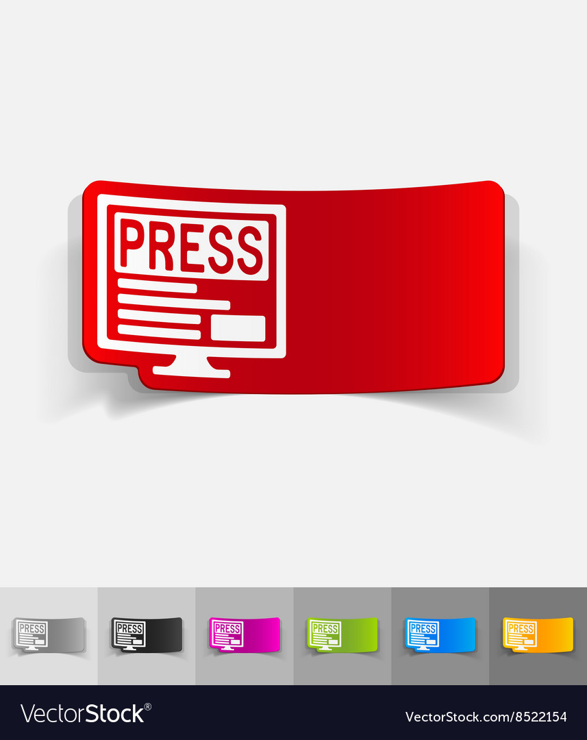 Realistic design element press vector