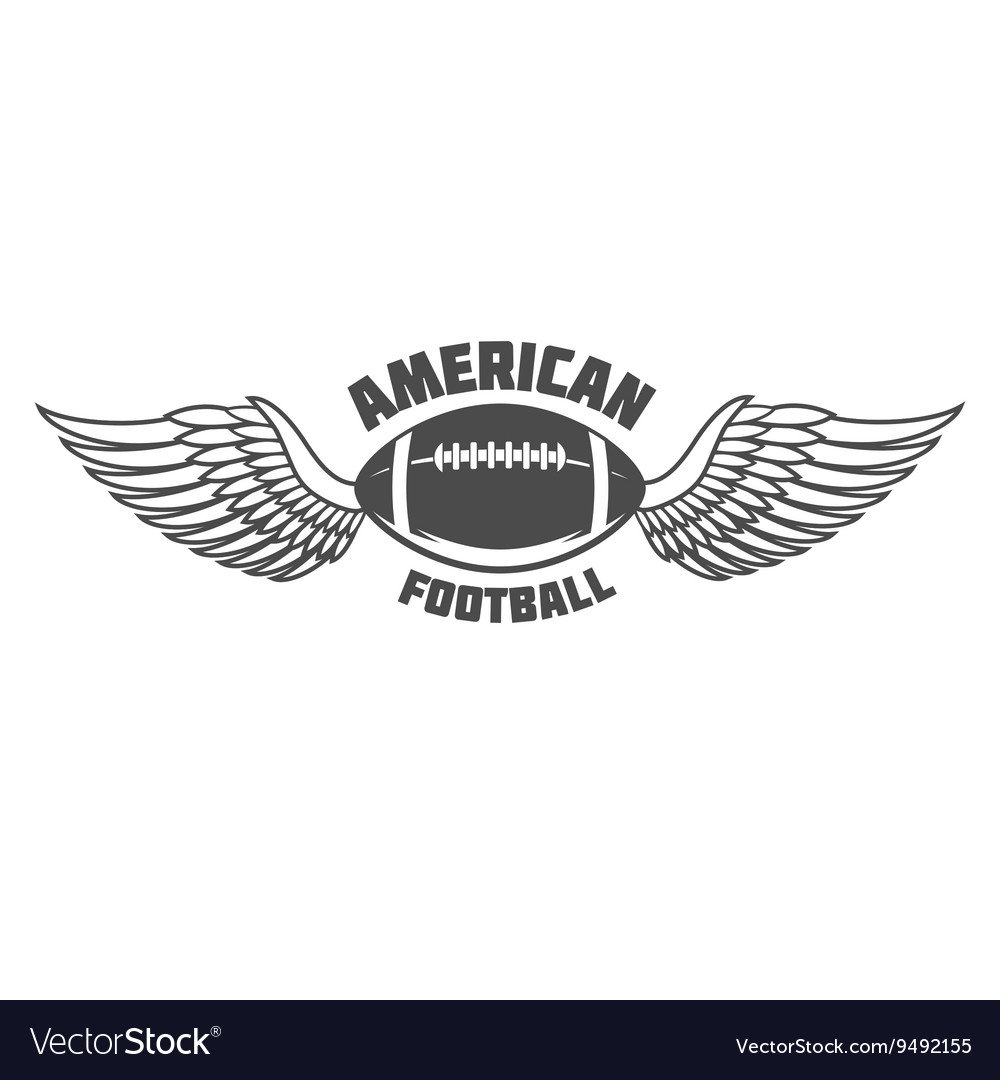 American football badges logo and labels vector