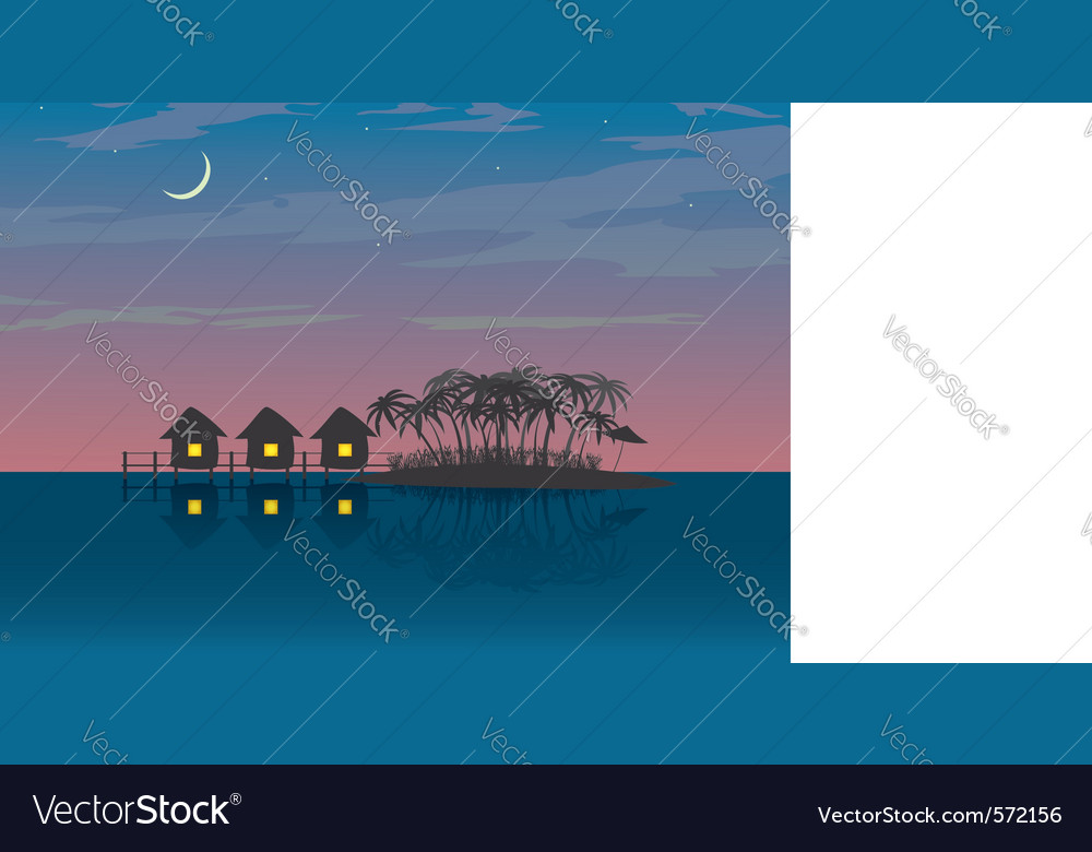 Bungalows vector