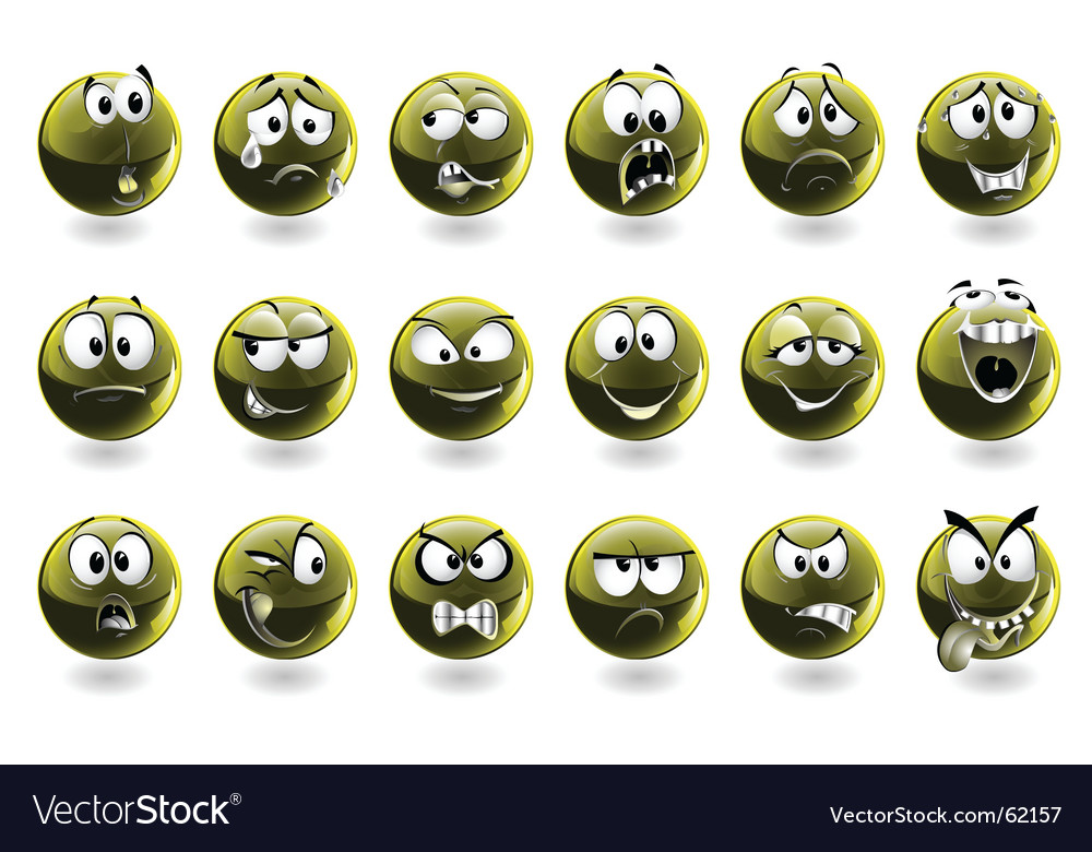 Set of smileys vector