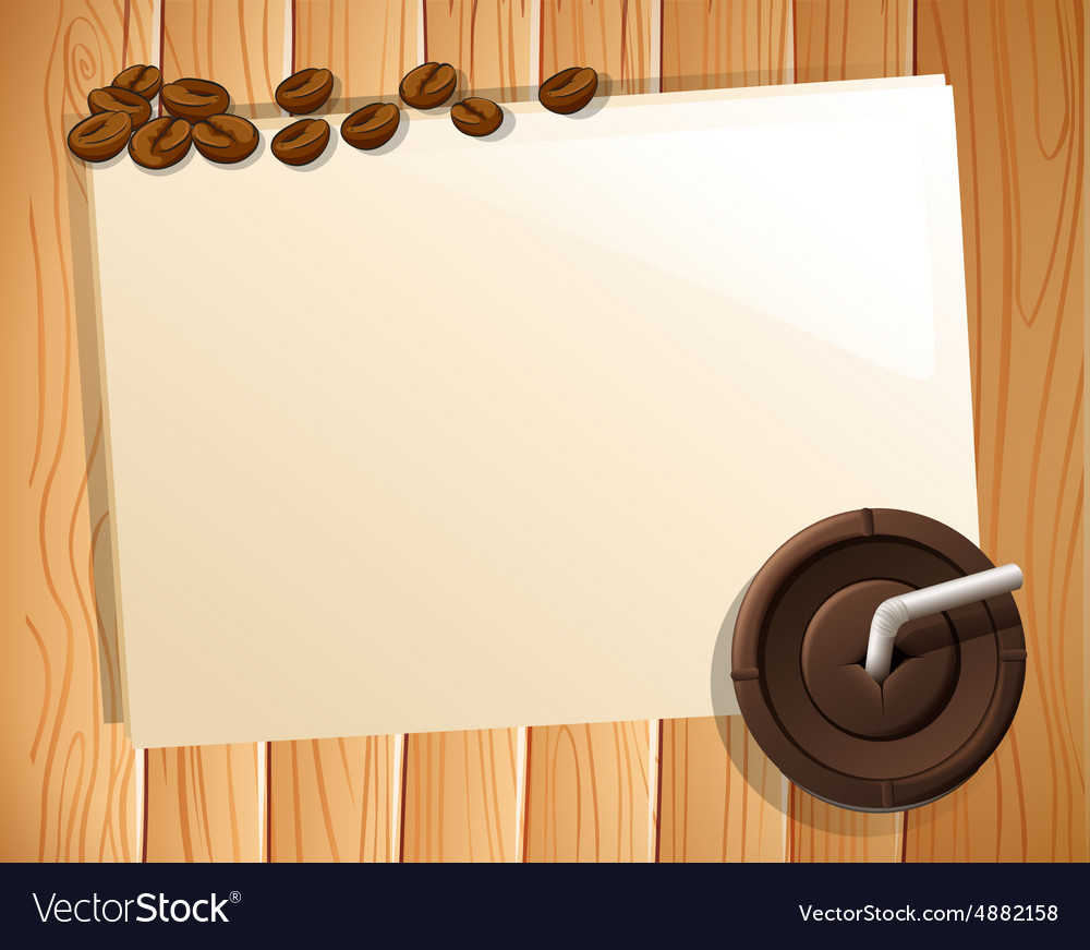 Banner and coffee vector