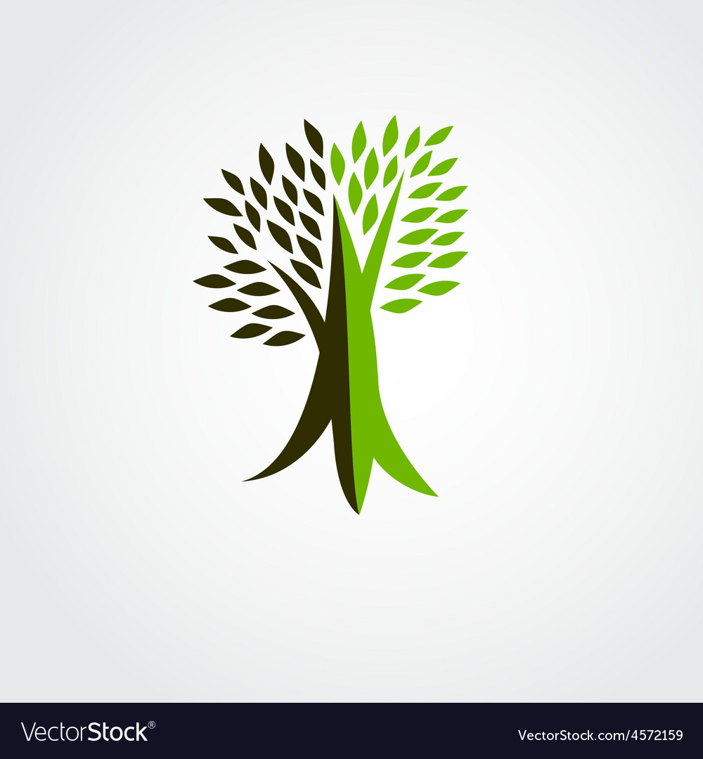 Tree logo design vector