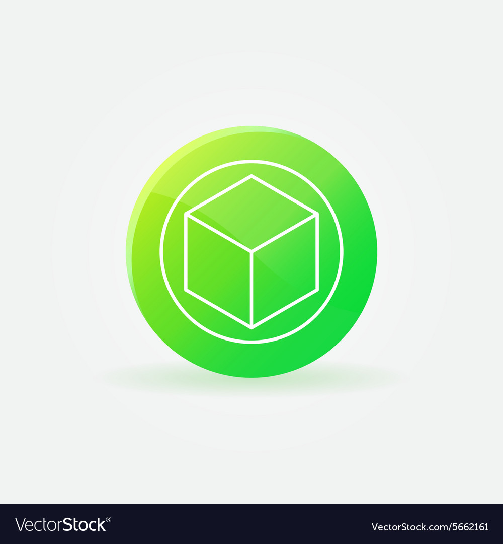 3d printer logo or icon vector