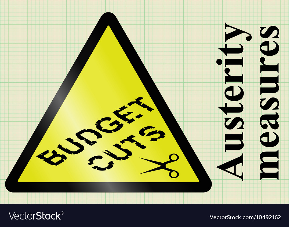 Austerity measures and budget cuts vector