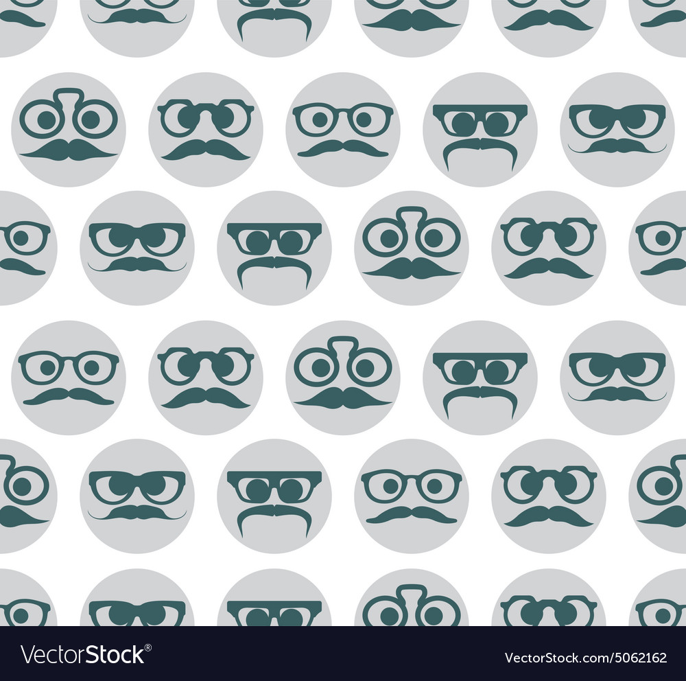 Hipster smiley seamless pattern3 resize vector