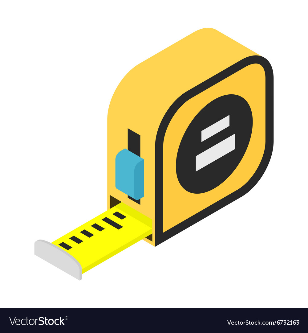Builders tape measure isometric 3d icon vector