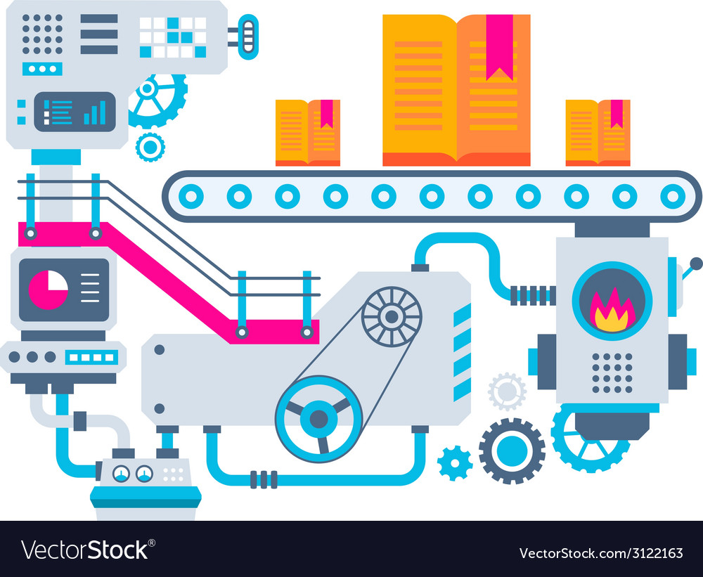 Industrial background of the factory for man vector