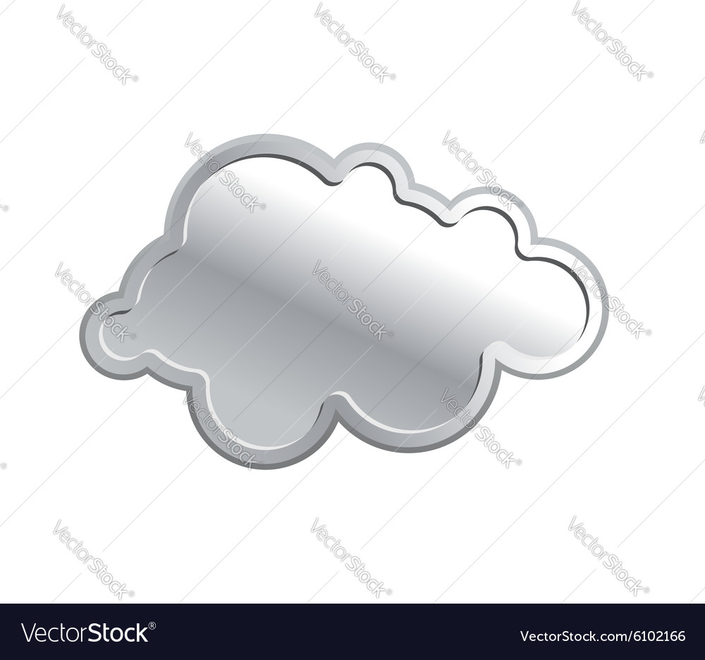 Metallic cloud iron sky on a white background vector