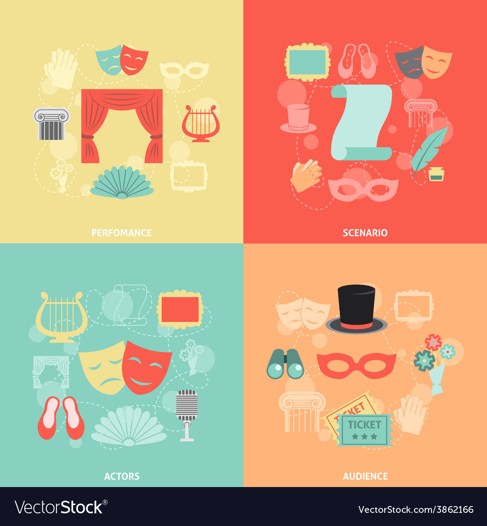 Tre icons flat vector