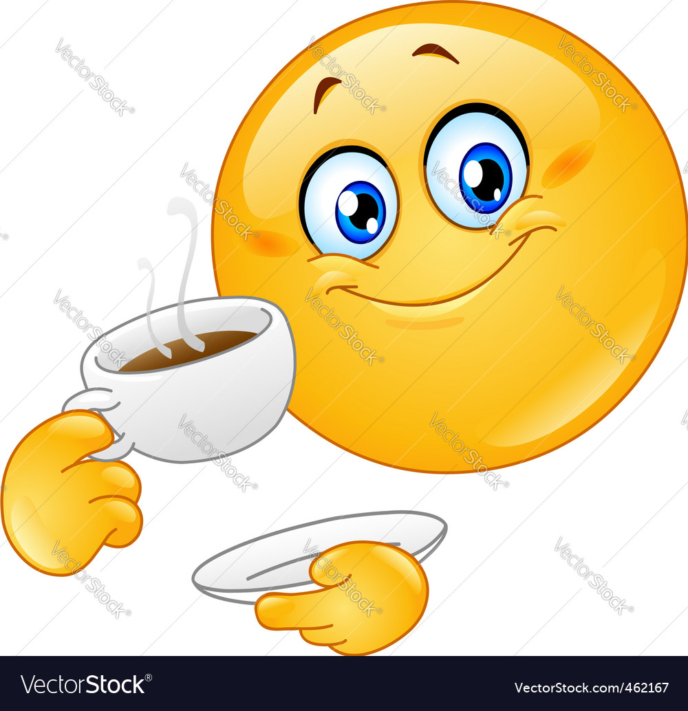 Coffee emoticon vector