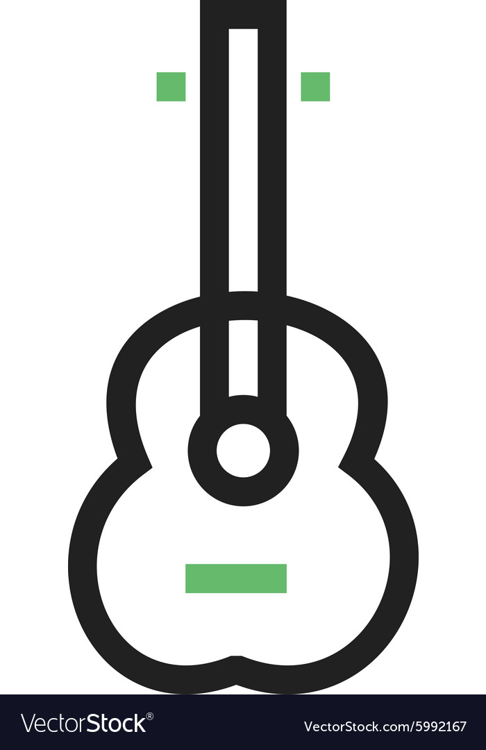 Guitar music vector