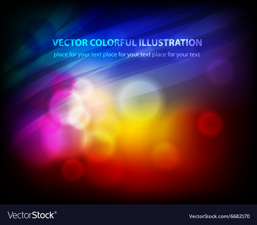 Abstract design with neon lights vector