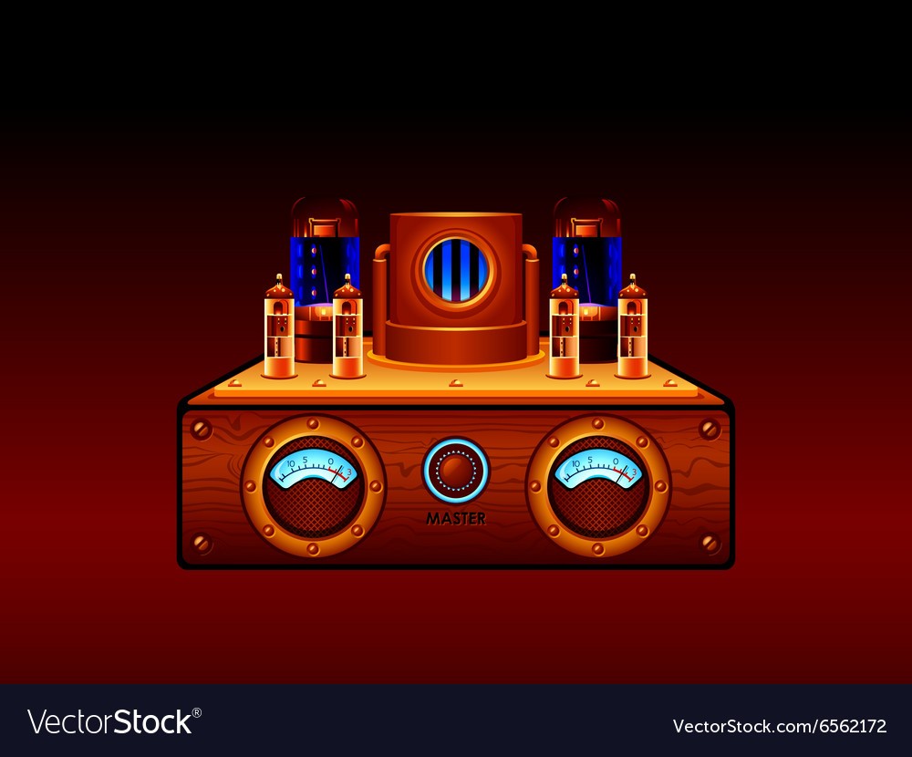 Steampunk amp vector