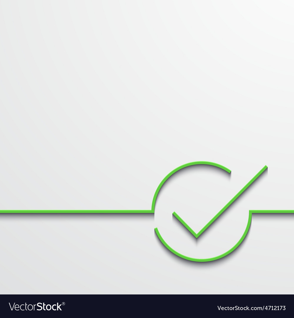Modern green check mark on black vector