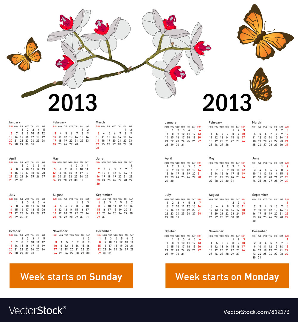 Stylish calendar vector