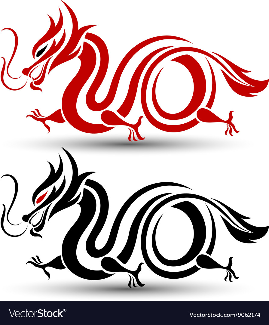 Chinese dragon 2 vector