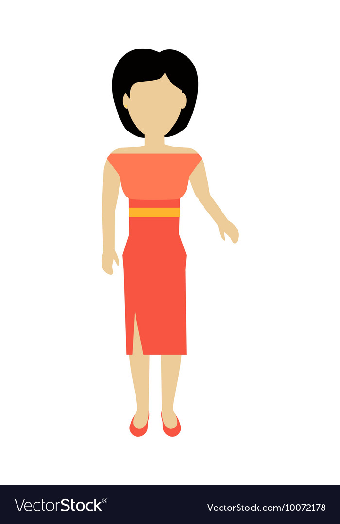 Woman character template vector