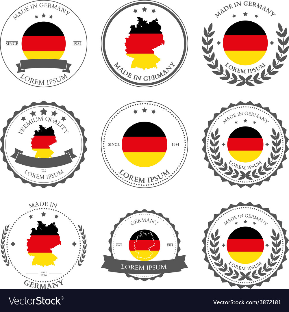 Made in germany seals badges vector