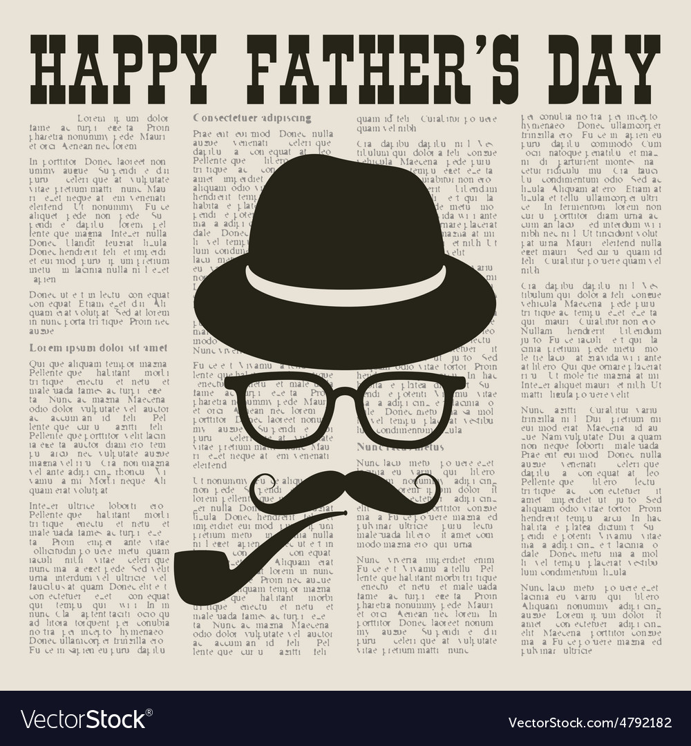 Fathers newspaper vector