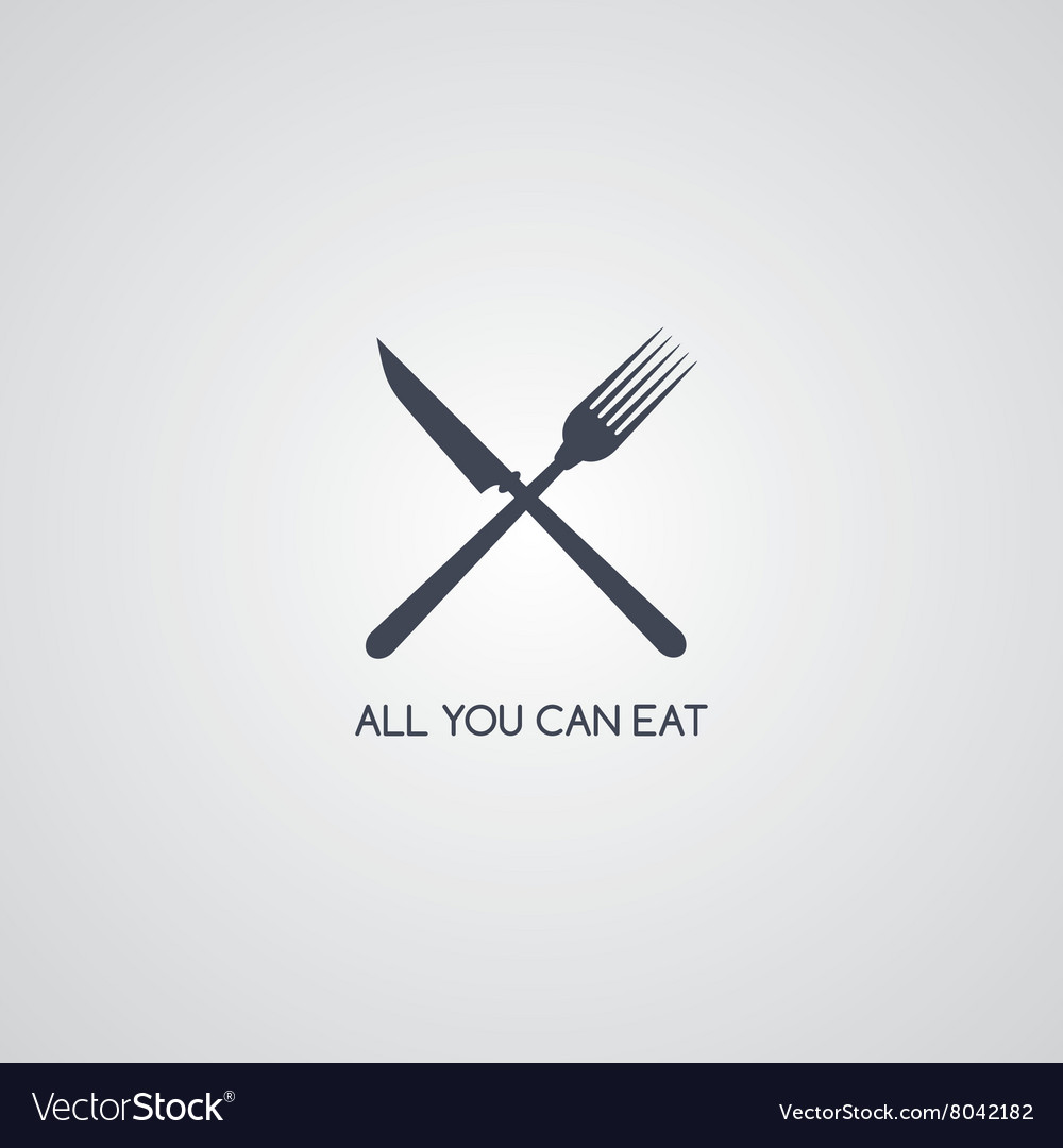 Fork knife restaurant logotype vector