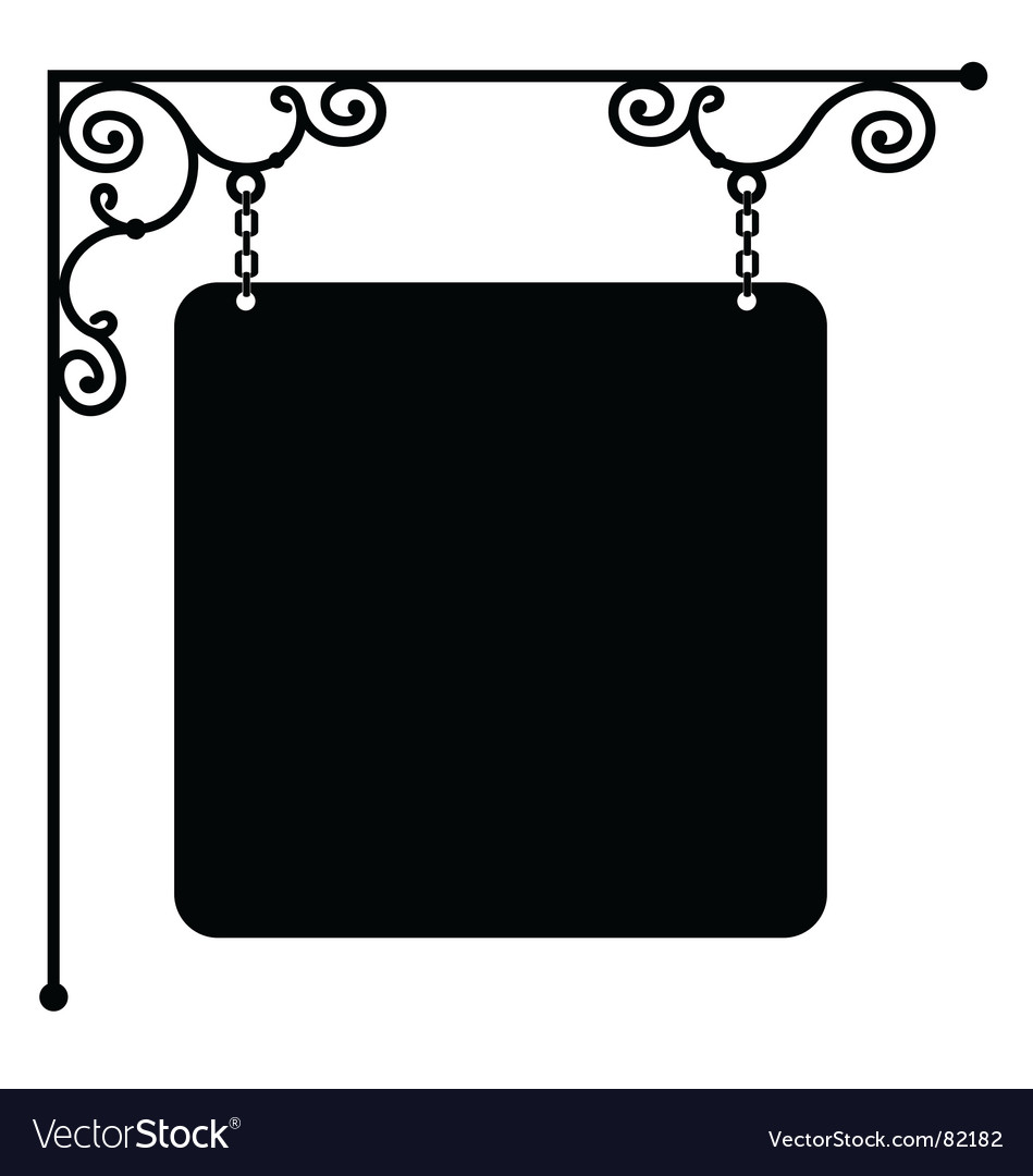 Sign bracket vector