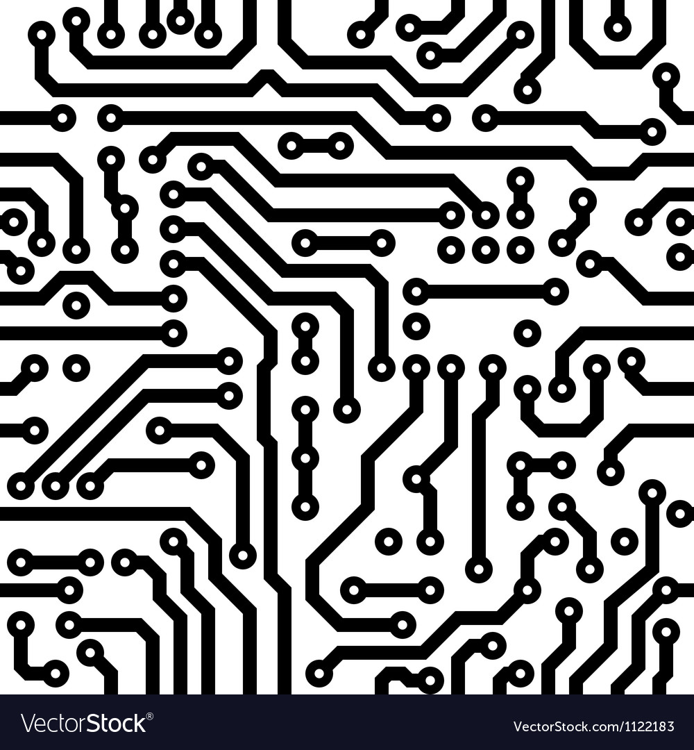 Electronic circuit board vector