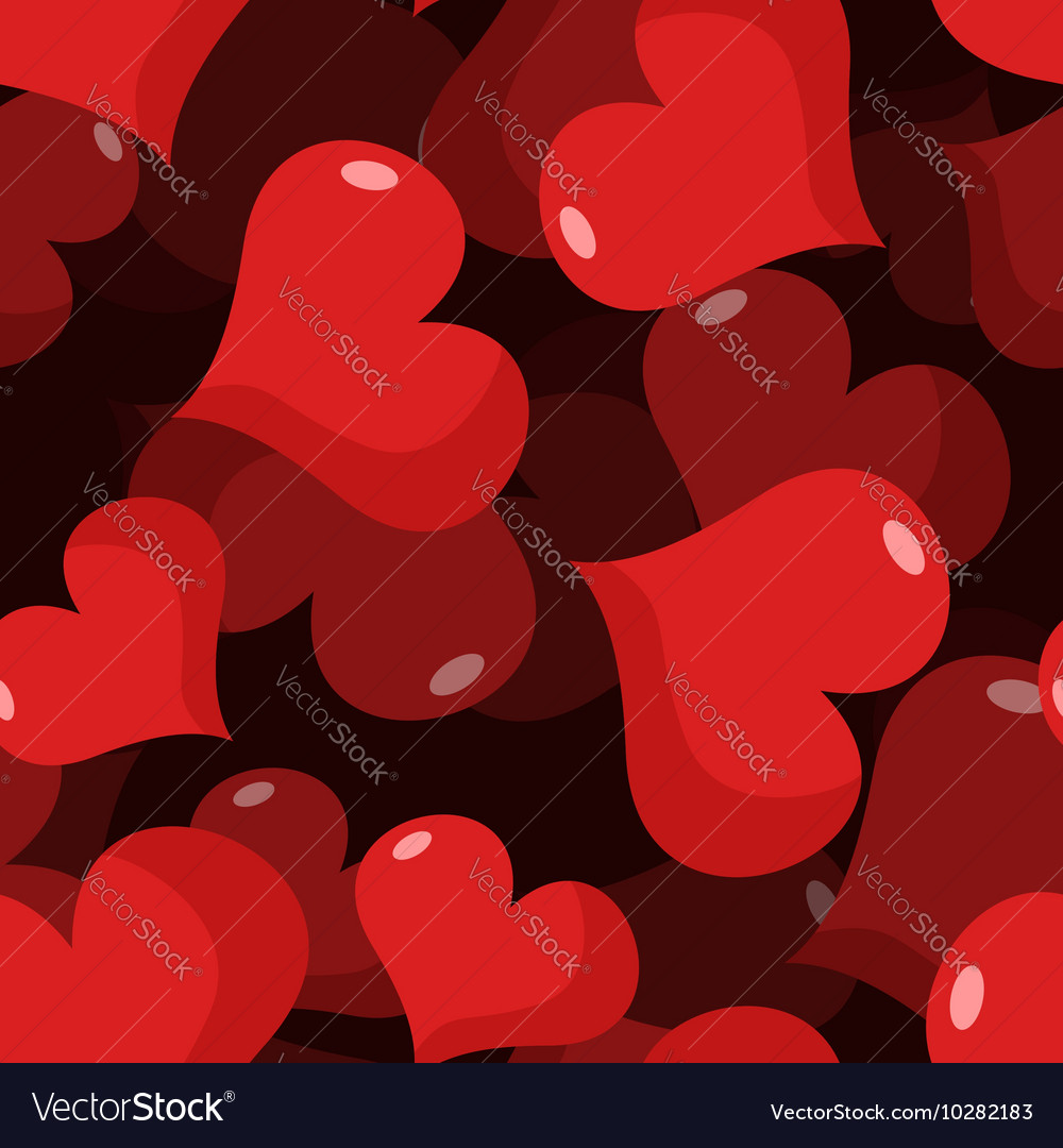 Love 3d seamless pattern red heart background vector