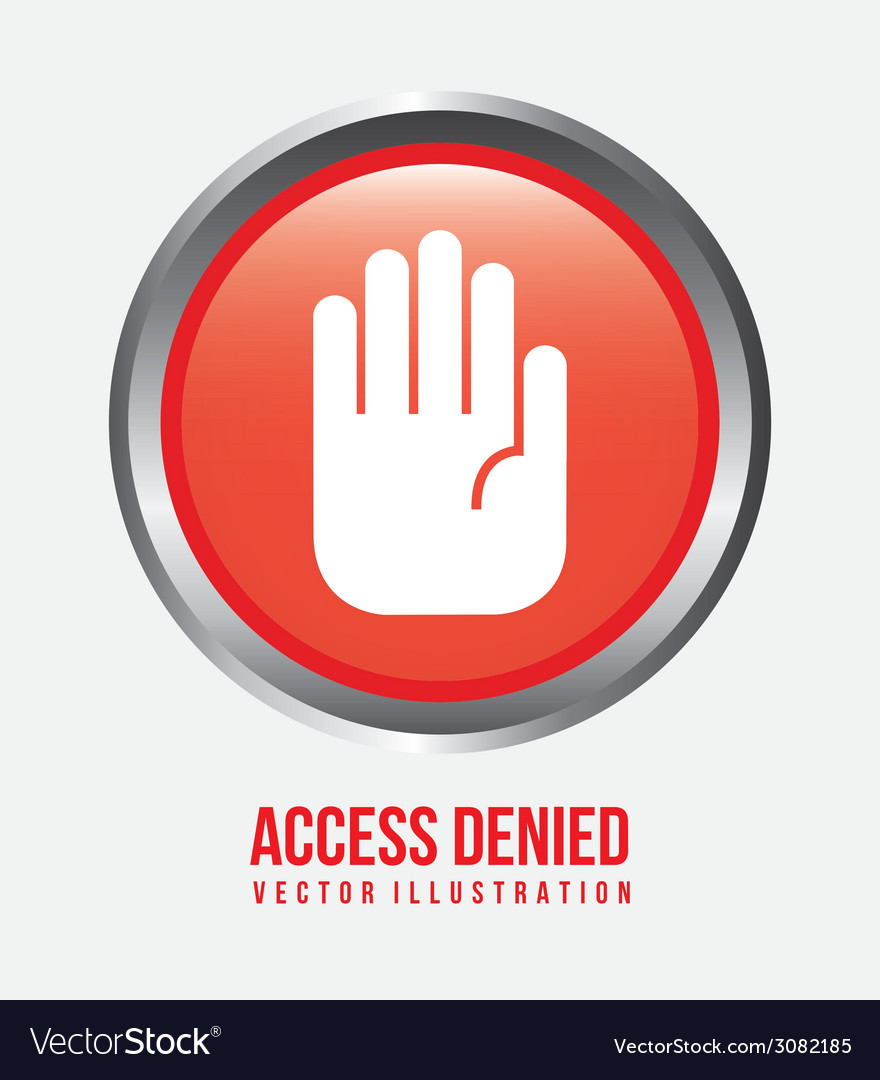 Access denied design vector