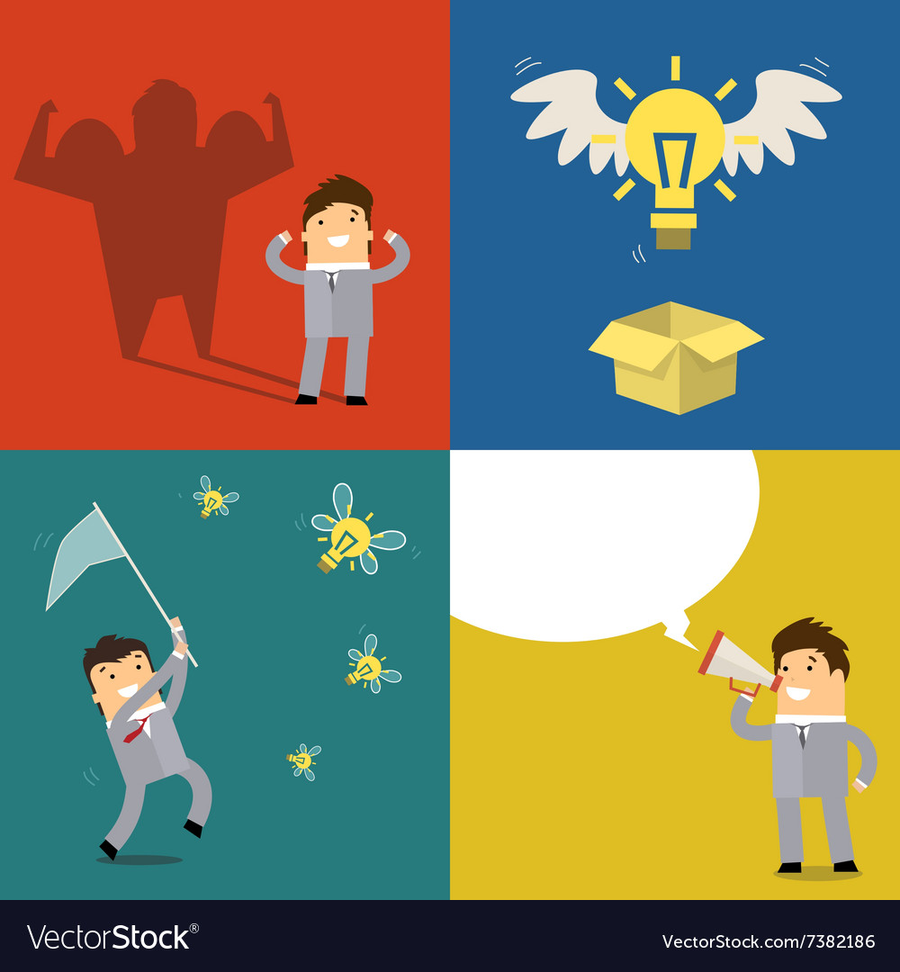 Business concept of idea vector