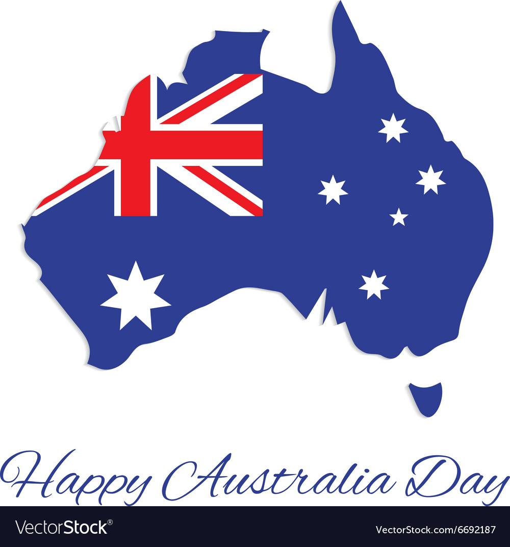 Australia map for australia day vector