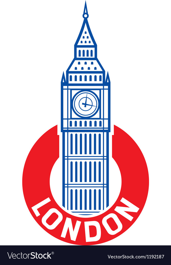 Big ben label vector
