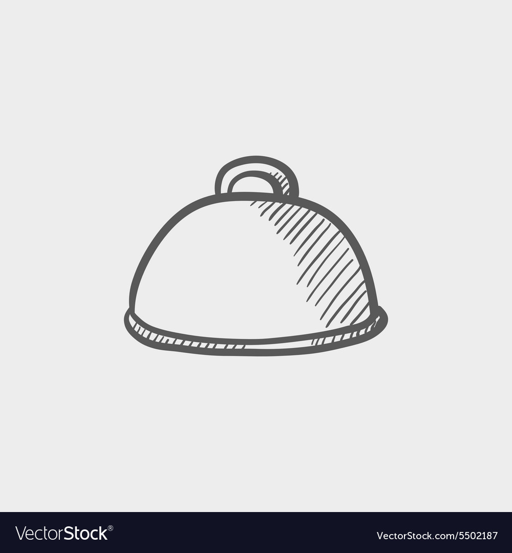 Food cover sketch icon vector