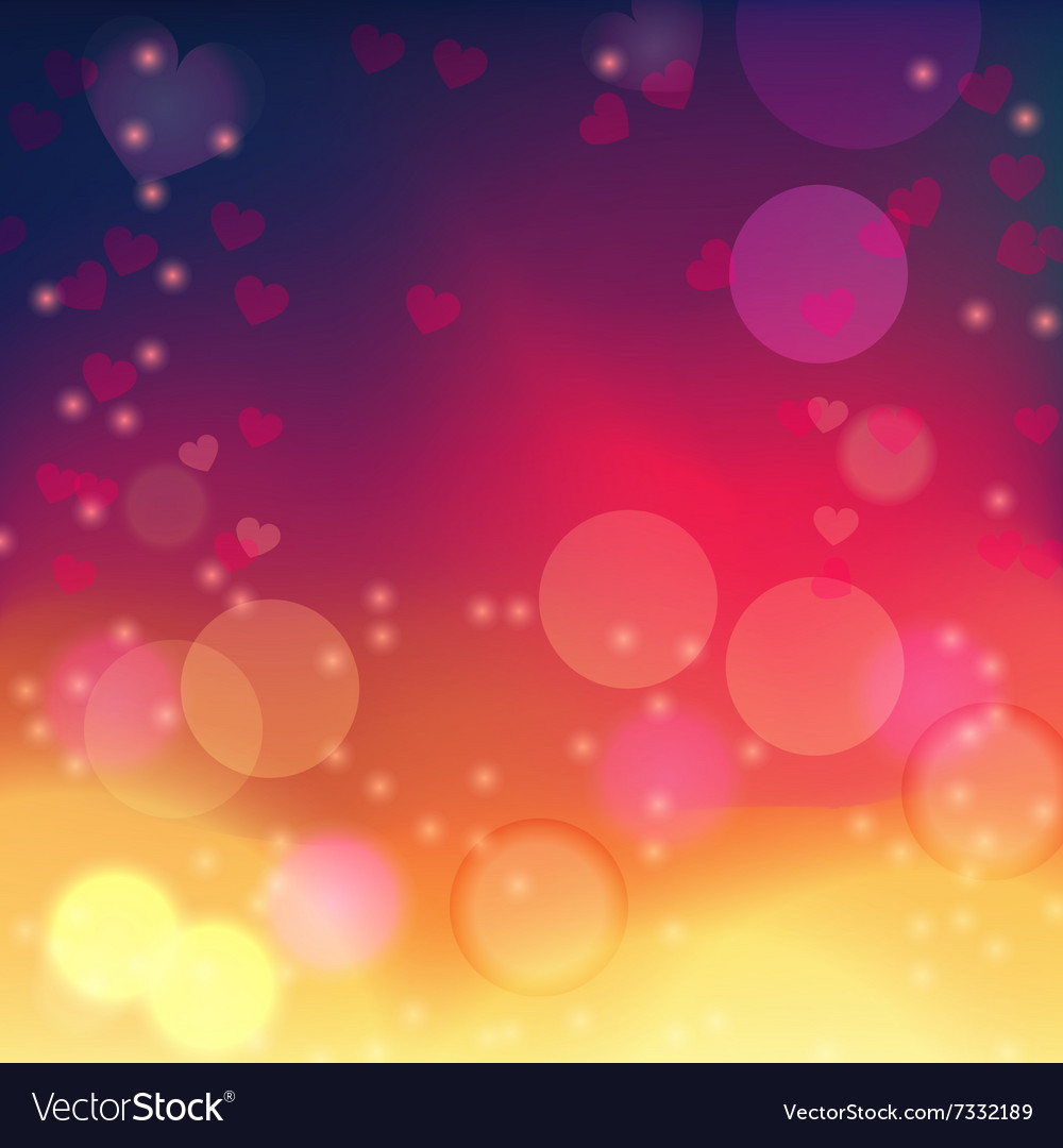 Valentine hearts background 1 vector