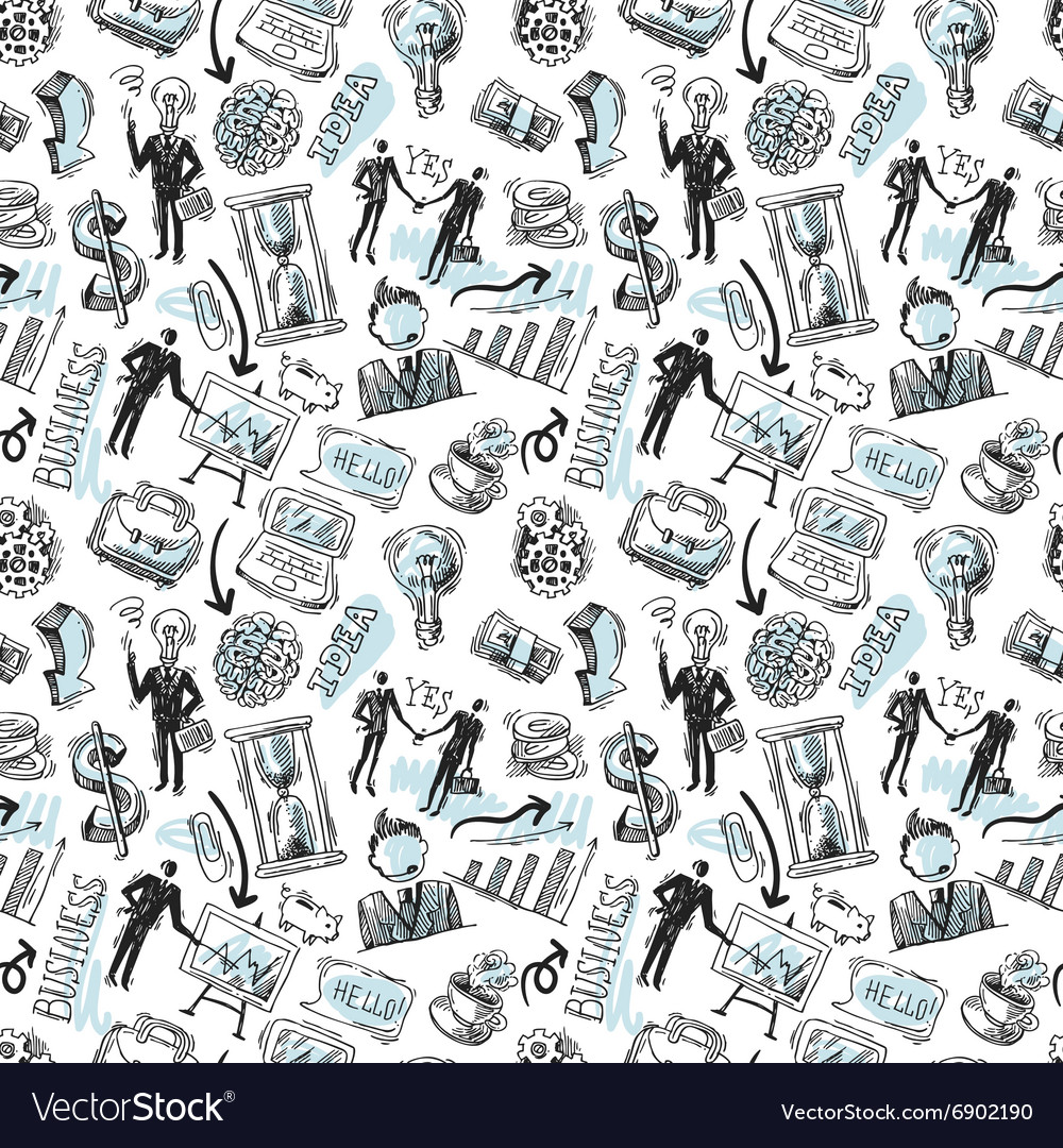 Business hand drawn sketch vector