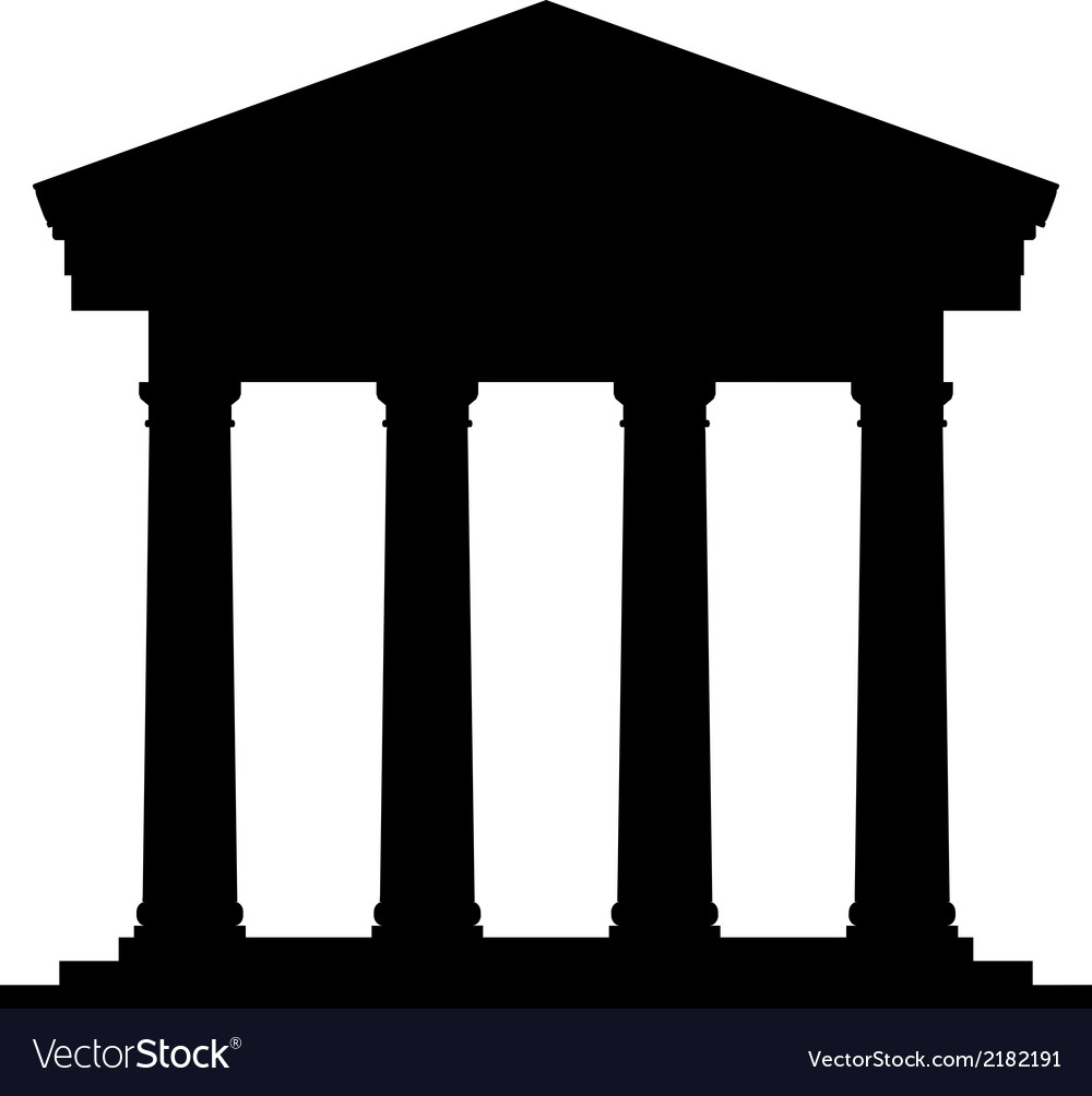Bank icon vector
