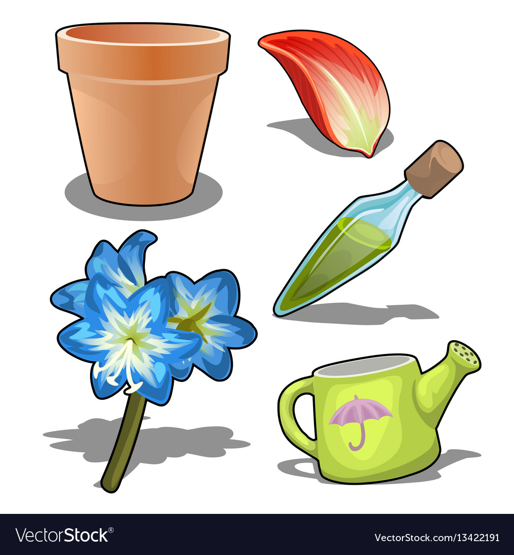 Growing flowers concept and make perfume vector